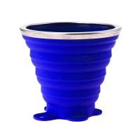 Складной стакан VERTO, силиконовый, 260 мл  под нанесение логотипа