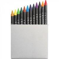 12 цветных карандашей в карточной коробке под нанесение Вашего логотипа