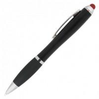 Ручка пластиковая шариковая RIA со светящимся логотипом и цветным стилусом