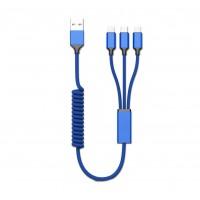 Зарядный кабель 3-в-1 RIO, TM TEG под нанесение логотипа