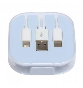 Зарядный кабель-переходник  3 в 1 под нанесение логотипа