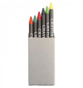 6 цветных карандашей в карточной коробке под нанесение Вашего логотипа