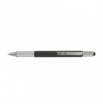 Ручка многофункциональная MULTI-TOOL PLAST 5в1 со стилусом, ватерпасом, отверткой, линейкой