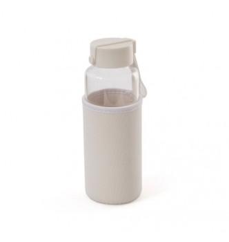 Бутылка для напитков стеклянная MILLENNIUM 450 мл с термочехлом из неопрена и и силиконовым ремешком