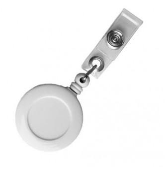 Крепление (ретрактор) для бейджа, диаметр 32 мм, пластиковый