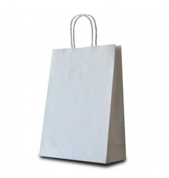 Пакет бумажный с витыми ручками, размер 240*100*320 мм, крафт 120 г/м²