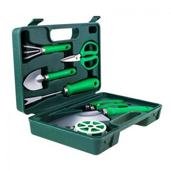 Портативный набор садовых инструментов 7в1, в чемодане под нанесение логотипа