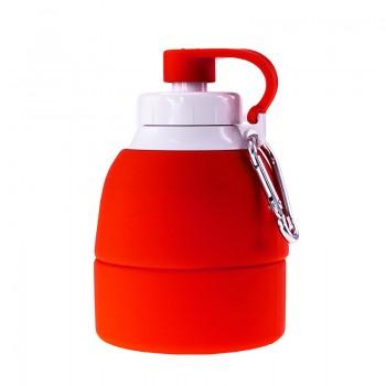 Складная бутылка для воды TEMPO силиконовая под нанесение логотипа