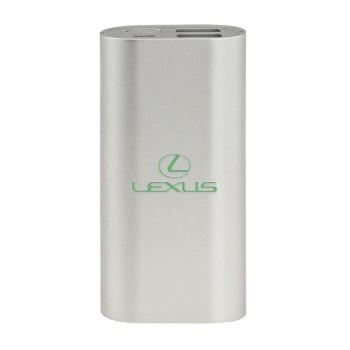 Power bank, 4000 мА/ч, 2,1 A, 2 USB, светящийся логотип, Xoopar