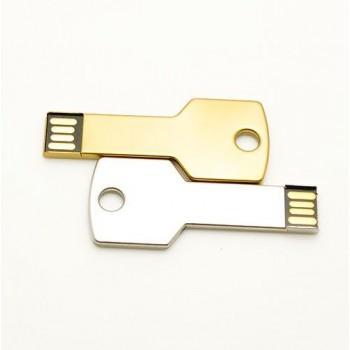 Флешка Ключ серебро, 64 Гб,  под нанесение логотипа