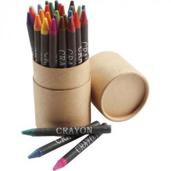 30 цветных карандашей в карточной коробке под нанесение Вашего логотипа