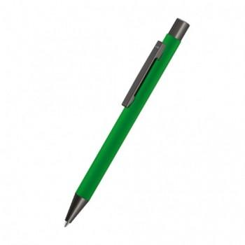 Ручка UMA STRAIGHT GUM, металлическая шариковая ручка с мягким на ощупь корпусом, металлическим клипом, металлическим наконечником и кнопкой из оружейной стали