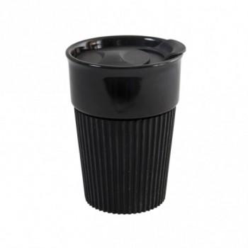 Керамическая чашка AFINA BLACK 400 мл под нанесение логотипа