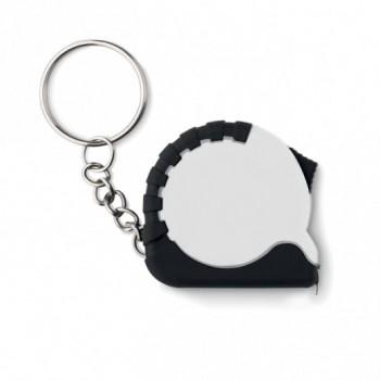 Брелок с сантиметром в корпусе ABS и резиновой кромкой ITO, размер 9x3,5x1 см, пластик, металл, под нанесение изображение