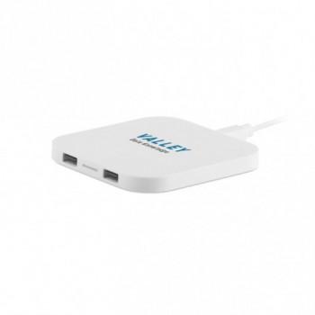 Зарядное устройство беспроводное UNIPAD W2 USB, 9x9x0,9 см под нанесение логотипа