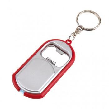 Брелок OPEN LIGHT со светодиодным фонариком, открывалкой и кольцом для ключей под нанесение Вашего логотипа