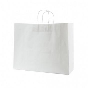 Пакет бумажный с витыми ручками, размер 400*130*320 мм, крафт 120 г/м²