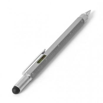 Ручка многофункциональная Multi-tool 5в1 со стилусом, ватерпасом, отверткой, линейкой