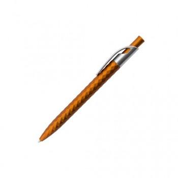 Ручка шариковая ребристая GEMA с серебристым клипом под нанесение лого