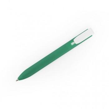 Ручка пластиковая FEDER плоская с белым клипом под нанесение изображения