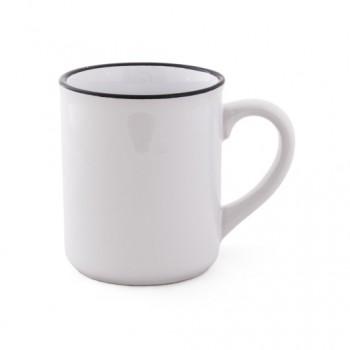 Керамическая чашка RETRA 350 мл с черным ободком