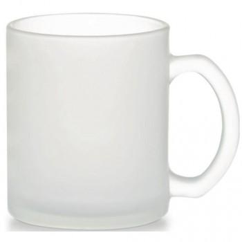 Чашка стеклянная матовая FRESIA Dual, объем 340 мл, двусторонний фрост
