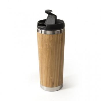 Термочашка MOMENTUM 420 мл металлическая с бамбуковым покрытием