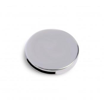 круглая металлическая табличка